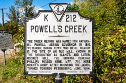 Powell's Creek Marker