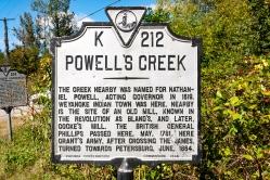 Powell's Creek Marker