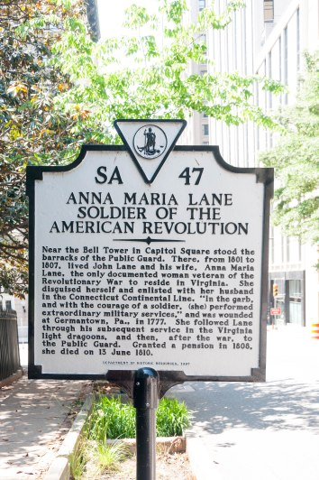 Anna Maria Lane Marker in Richmond, Virginia