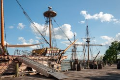Jamestown Settlement's famous 1607 replica fleet