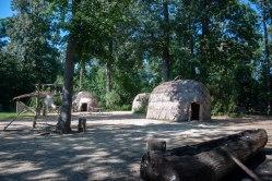 Recreated indian village at Jamestown Settlement