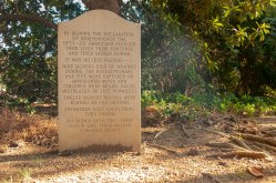 Benjamin Harrison V, signer of the Declaration of Independence is buried at Berkeley Plantation.