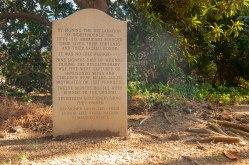 Benjamin Harrison V, signer of the Declaration of Independence is buried at Berkeley Plantation.