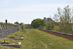 Gun emplacements atop Fort Monroe