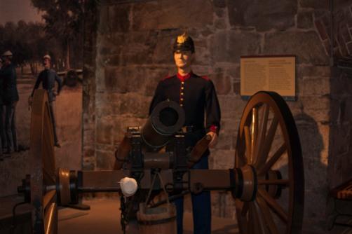 Inside Fort Monroe's Casemate Museum
