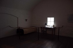 Inside Jefferson Davis Jail Cell at Fort Monroe