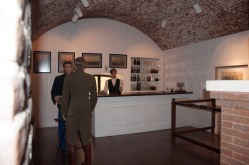 A recreated watering hole at Fort Monroe's Casemate Museum