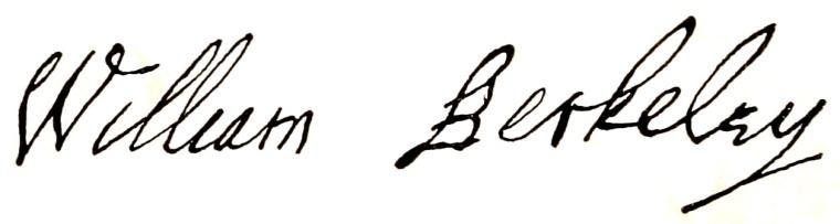Berkeley Signature