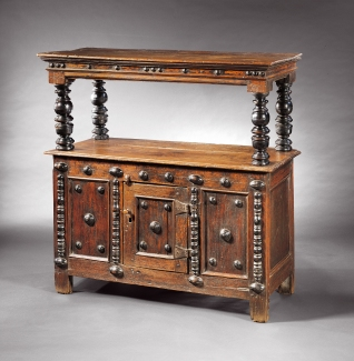 Court Cupboard, ca. 1650-1670, Courtesy of Early Southern Decorative Arts. Gift of Frank L. Horton.