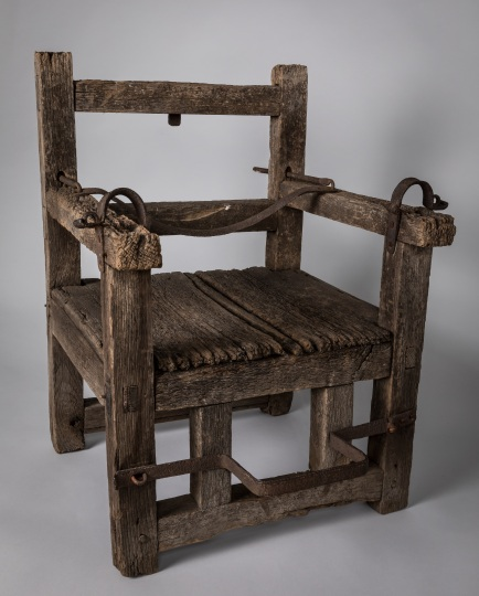 Ducking Chair, English traditional 17th Century, Jamestown-Yorktown Foundation Collection.