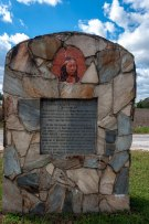 Pocahontas Memorial Stone on the Pamunkey Reservation