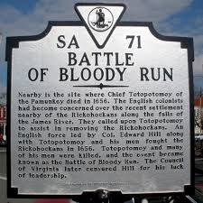 Battle of Bloody Run Marker in Richmond, VA Photo Credit - Historican Marker Database