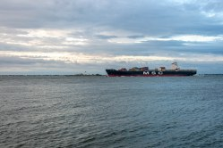 At one time slave traders plied the Chesapeake Bay. Today, the waterway known as Hampton Roads remains one of the world's busiest ports of call as ships like these sail past Fort Monroe.