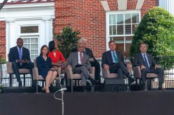 Some of the Commemoration's distinguished guests on stage