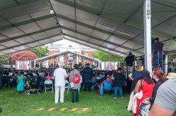 The Tent Crowd at the 400th Commemoration Ceremony