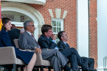 L-R, Elaine Luria, Bobby Scott, Mark Warner, and Ralph Northam.