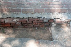 Historic Jamestown is an active archaeological site. Evidence can be seen of that fact all over the island, such as this exposed brick at the Memorial Church