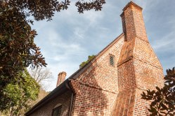 One of the famous Thoroughgood House Chimneys