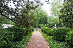 The Thoroughgood House is in the middle of a serene neighborhood close to the Lynnhaven River.