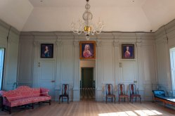 Stratford Hall's Great Room, adorned with the famous Lee portraits
