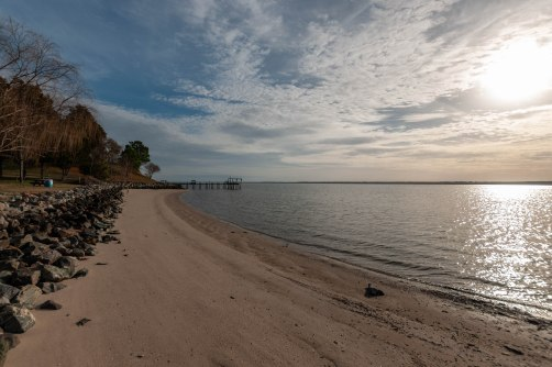 Capahosic Beach, just south of Werowocomoco on the York River, near Richard and Anne Constable Lee's first landholding