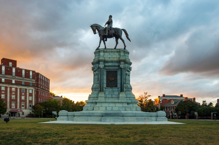 Antonin Mercie's Robert E. Lee on Monument Avenue, Richmond, Virginia