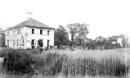 Mansfield ruins after the Civil War