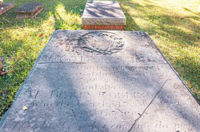 Richard Corbin and wife Betty Tayloe Corbin Grave at Christ Church Saluda, Middlesex County
