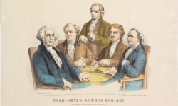 Edmund Randolph as member of Washington's Cabinet