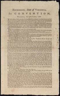 First Page of the Virginia Ratification Convention